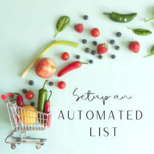 set up an automated grocery list on alexa