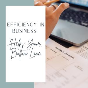 habits of efficiency