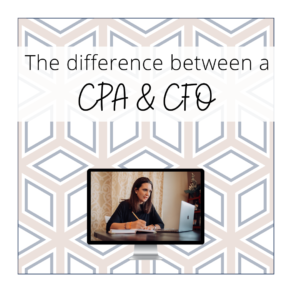What is the difference between aCPA & CFO
