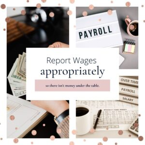 report wages properly as business owner
