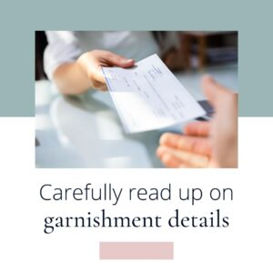 garnishment and bookkeeping