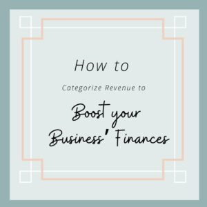 How to Categorize Revenue to Boost your Business' Finances