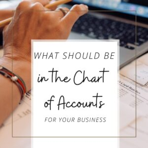 What goes in a Chart of Accounts