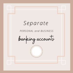 Separate banking for business accounts